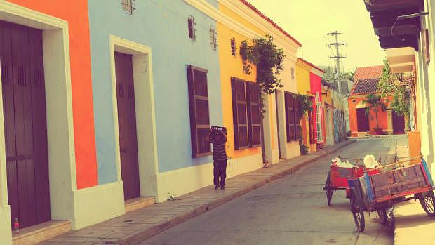 Casas coloridas - Cartagena de Indias