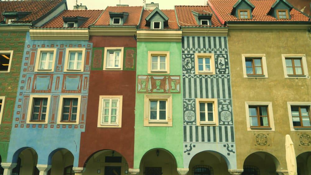 Casas en la Stary Rynek de Poznan