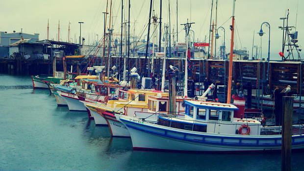 Barcos en Fisherman's Wharf