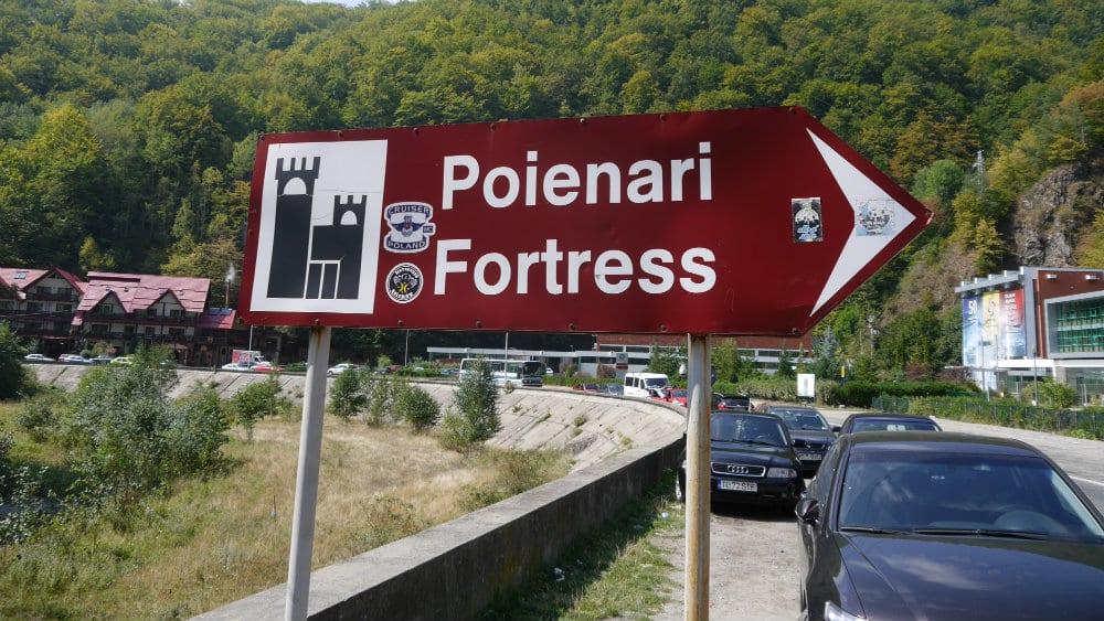 Camino al castillo de Poienari