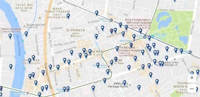 Dónde alojarse en el centro histórico de Bangkok - clica para ver todos los alojamientos