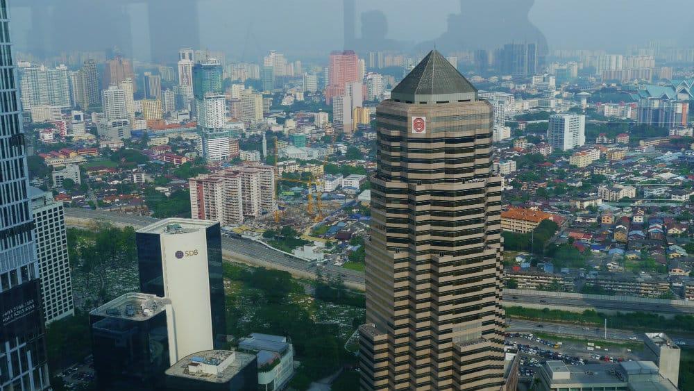 Vistas desde el skybridge de las Petronas