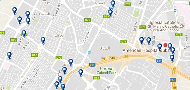 Burj Dubai - Haz clic para ver todos los hoteles en un mapa