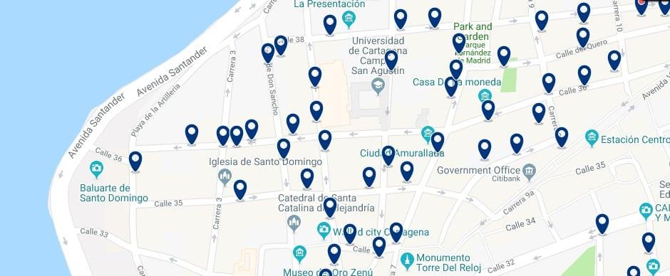 Cartagena - Centro Histórico - Haz clic para ver todos los hoteles en un mapa