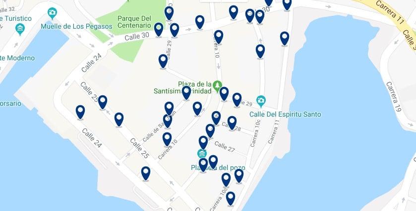 Cartagena - Getsemaní - Haz clic para ver todos los hoteles en un mapa
