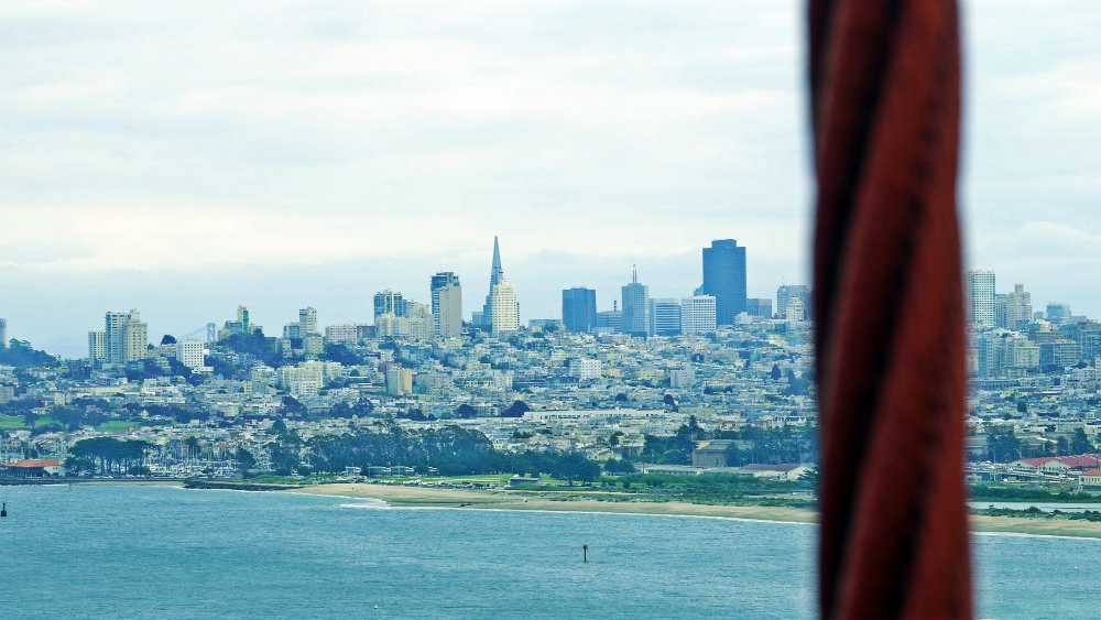 Vistas de San Francisco desde el Golden Gate