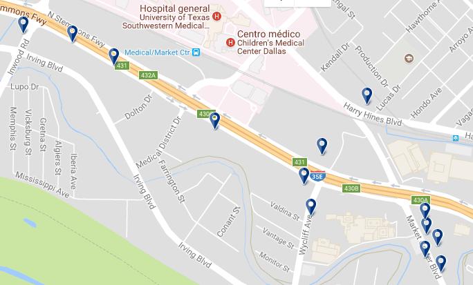 Dallas Market Center - Haz clic para ver todos los hoteles en esta zona
