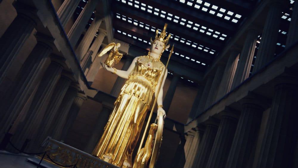 Réplica de la estatua de Atenea del Partenón