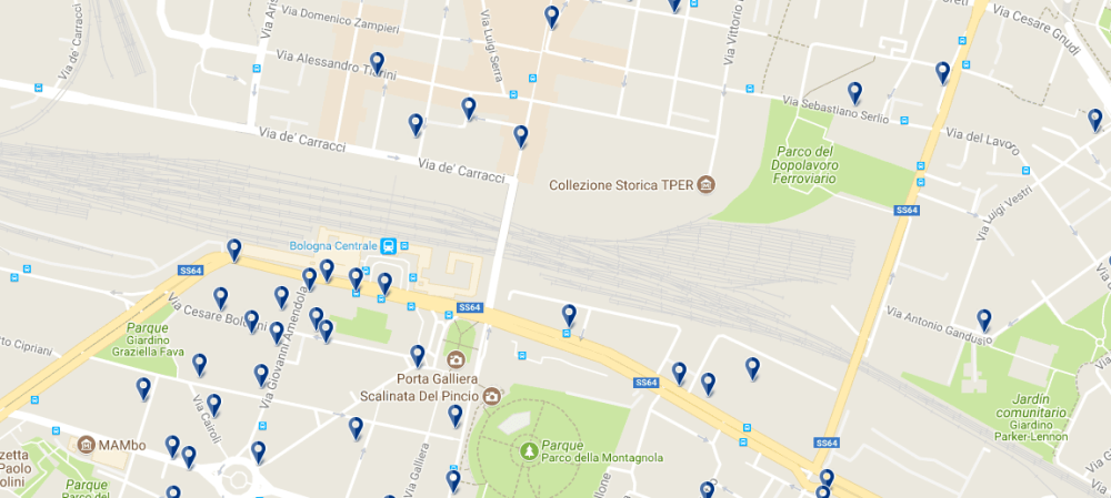 Bologna Centrale - Clicca qui per vedere tutti gli hotel su una mappa