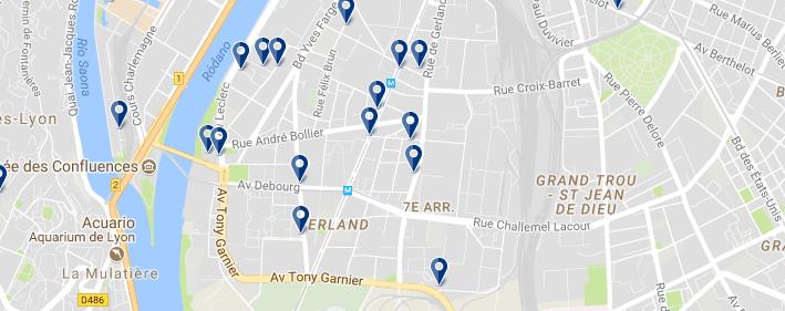 7 arr. Lyon - Haz clic para ver todos los hoteles en un mapa
