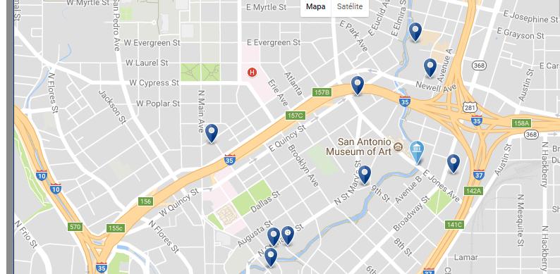 Pearl & San Antonio Museum of Art - Haz clic para ver todos los hoteles en un mapa