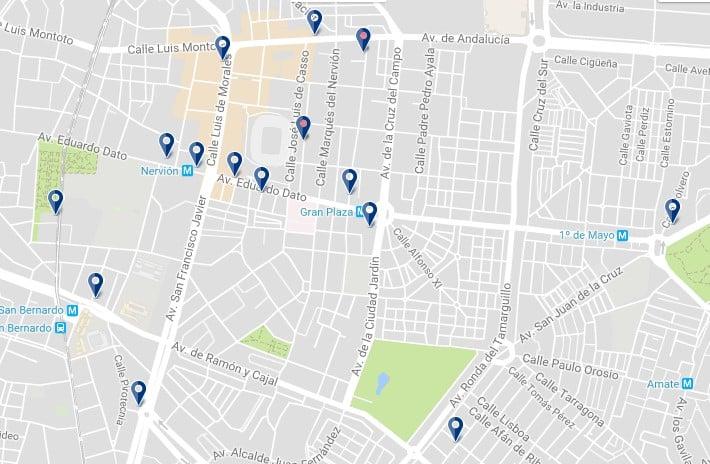 Nervión, Sevilla - Haz clic para ver todos los alojamientos en un mapa