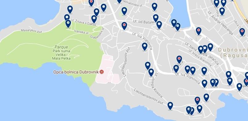 Dubrovnik - Lapad - Haz clic para ver todos los hoteles en un mapa