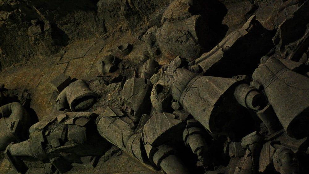 Restos de guerreros de terracota que no soportaron el paso del tiempo