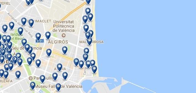 Valencia - Poblats Maritims - Clicca qui per vedere tutti gli hotel su una mappa
