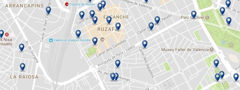 Valencia - Ruzafa - Clicca qui per vedere tutti gli hotel su una mappa