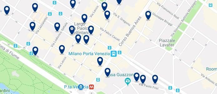 Milán - Porta Venezia - Haz clic para ver todos los hoteles en un mapa
