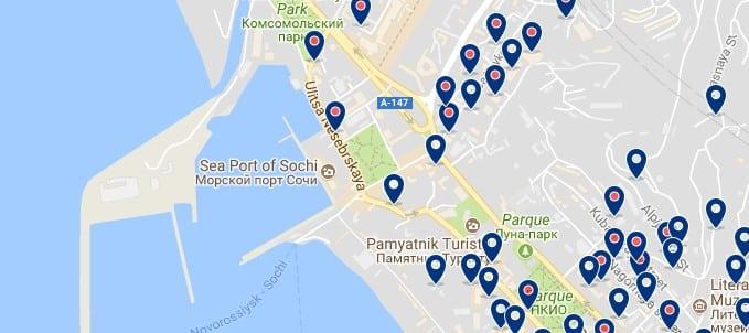 Sochi - Puerto - Haz clic para ver todos los hoteles en un mapa