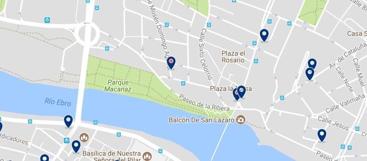 Zaragoza - Arrabal - Haz clic para ver todos los hoteles en un mapa