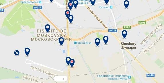 Saint Petesburg Moskovskiy - Haz clic para ver todos los hoteles en un mapa