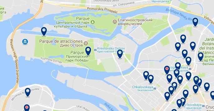 Saint Petersburg Stadium - Haz clic para ver todos los hoteles en un mapa