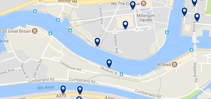 Bristol - Harbourside - Haz clic para ver todos los hoteles en un mapa