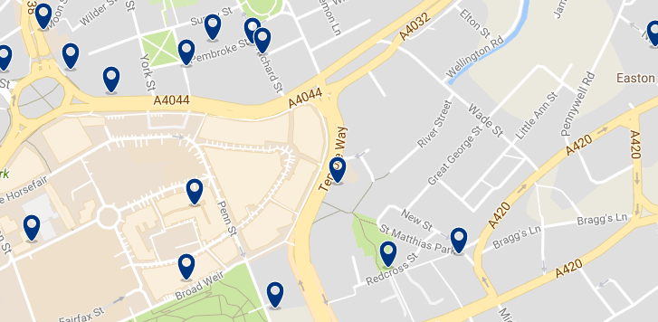Bristol - Old Market - Haz clic para ver todos los hoteles en un mapa
