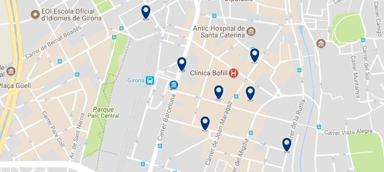 Girona - Estació - Haz clic para ver todos los hoteles en un mapa