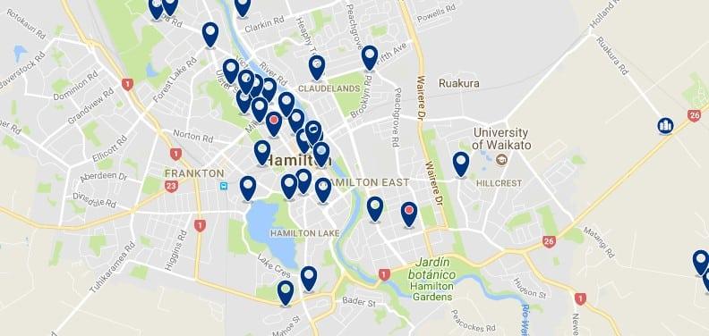 Hamilton - Nueva Zelanda - Haz clic para ver todos los hoteles en un mapa
