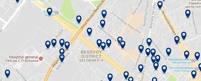 Moscú - Begovoy - Haz clic para ver todos los hoteles en un mapa