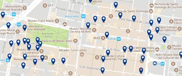 Ciudad de México - Centro Histórico - Haz clic para ver todos los hoteles en un mapa
