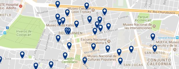 Ciudad de México - Coyoacán - Haz clic para ver todos los hoteles en un mapa