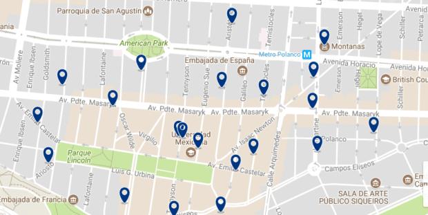 Città del Messico - Polanco - Clicca qui per vedere tutti gli hotel su una mappa
