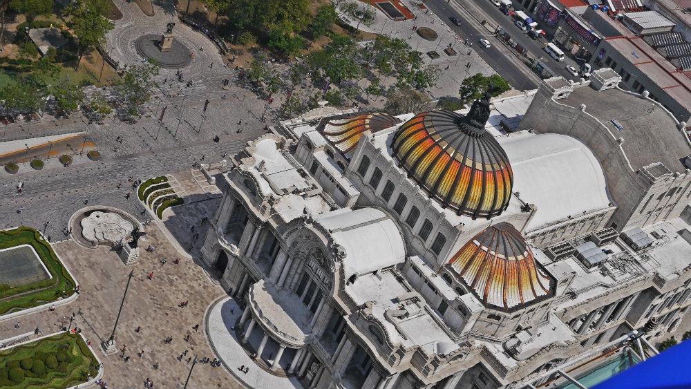 Palacio de Bellas Artes desde el mirador de la Torre Latinoamericana