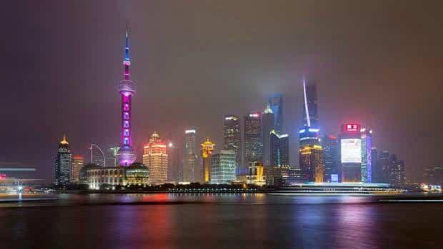 Pudong de Noche desde el Bund