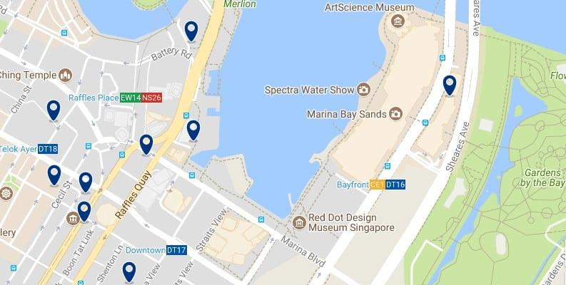 Singapur - Marina Bay - Haz clic para ver todos los hoteles en un mapa
