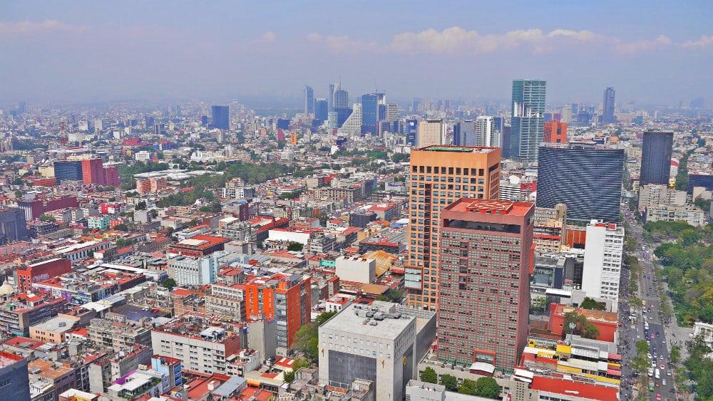 Vistas de Ciudad de México desde la Latino