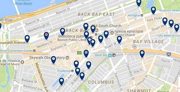 Boston - Back Bay - Haz clic para ver todos los hoteles en un mapa