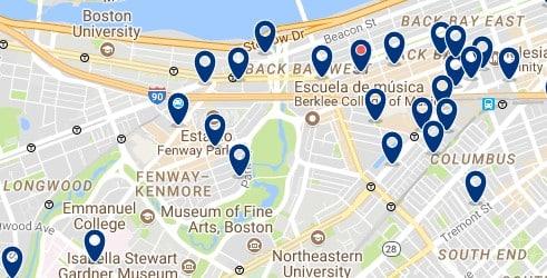 Boston - Fenway-Kenmore - Haz clic para ver todos los hoteles en un mapa