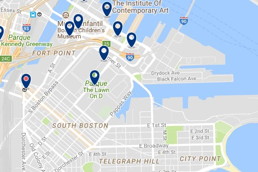 Boston - South Boston - Clicca qui per vedere tutti gli hotel su una mappa