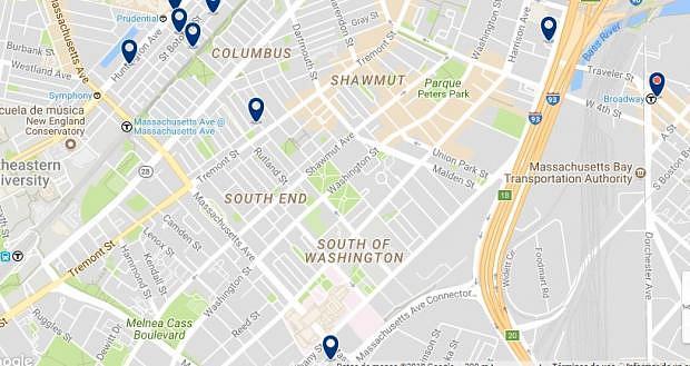 Boston - South End - Haz clic para ver todos los hoteles en un mapa