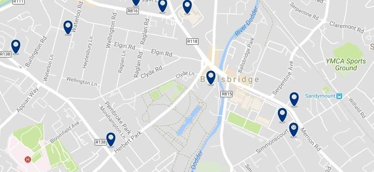 Dublin - Ballsbridge - Haz clic para ver todos los hoteles en un mapa