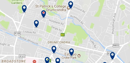 Dublin - Drumcondra - Haz clic para ver todos los hoteles en un mapa