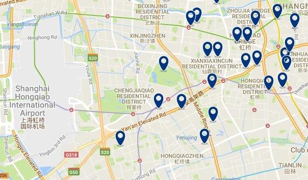 Shanghai - Changning & Honqiao Airport - Haz clic para ver todos los hoteles en un mapa