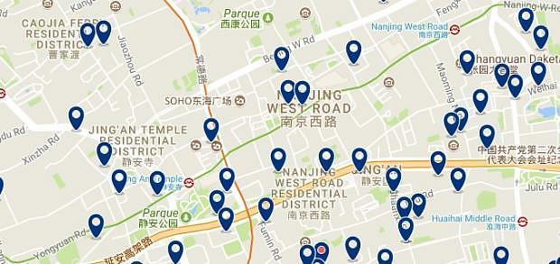Shanghai - Jing'an & Zhabei - Haz clic para ver todos los hoteles en un mapa