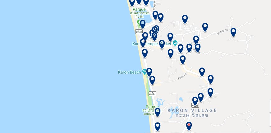 Phuket - Karon - Haz clic para ver todos los hoteles en un mapa