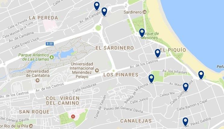 Santander - El Sardinero - Haz clic para ver todos los hoteles en un mapa