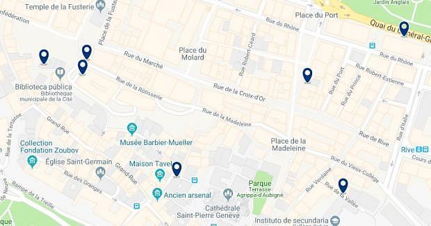 Ginebra - Cité & Vieille Ville - Haz clic para ver todos los hoteles en un mapa