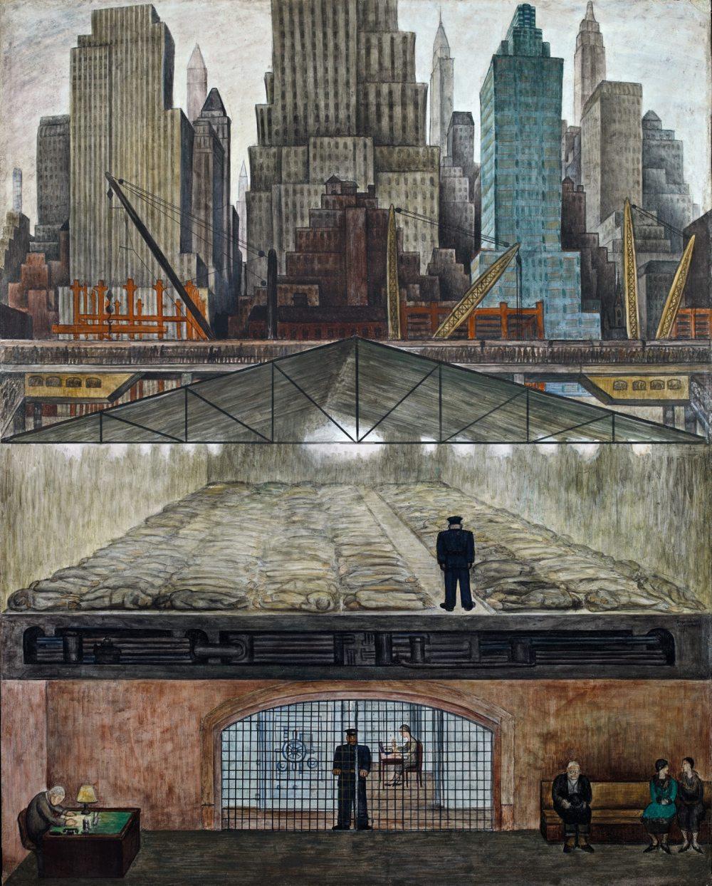 "Mural ""Fondos congelados"" de Diego Rivera"