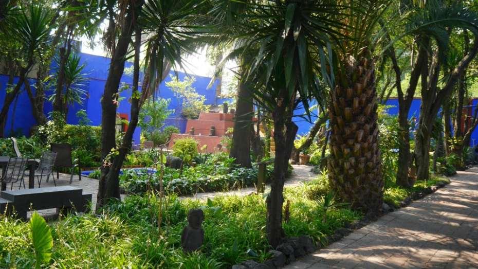 Patio de la Casa Azul de Frida Kahlo